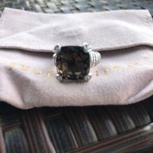 Bnew Judith Ripka SS brown Topaz ring